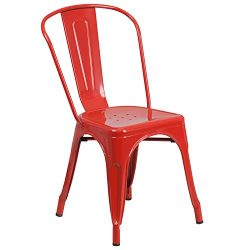 Flash Furniture Metal Chair, Red
