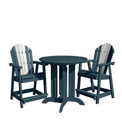 Highwood 3 Piece Hamilton Round Counter Height Dining Set, Odyssey