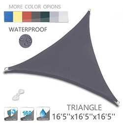 "Love Story 16'5"" x 16'5"" x 16'5"" Triangle Charcoal Waterproo ..."