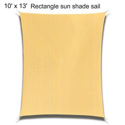 10′ x 13′ Rectangle Sand Sun Shade Sail, Durable UV Block Shelter Canopy Cover for O ...