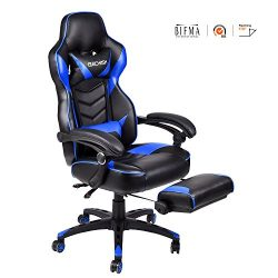 ELECWISH Ergonomic Computer Gaming Chair, PU Leather High Back Office Racing Chairs With Widen T ...