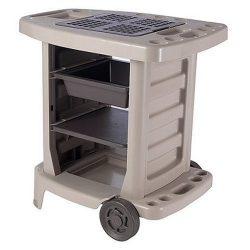 Suncast GC1500BTD Portable Outdoor Gardening Center with Interchangeable Shelves, Tool Storage A ...