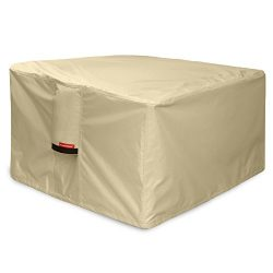 Porch Shield 600D Heavy Duty Patio Square Fire Pit/Table Cover 50 inch, 100% Waterproof, Beige