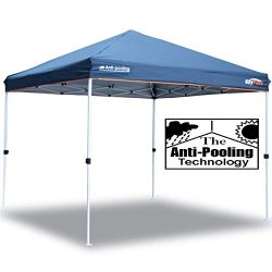 EzyFast Patented Anti-pooling Instant Beach Canopy Shelter for Rain or Sunshine, Portable 10ft x ...