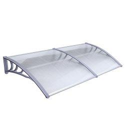 MCombo 40″×120″/40″x 80″ Window Overhead Door Awning Patio Outdoor Polyc ...