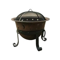 Catalina Creations 29″ Heavy Duty Cast Iron Fire Pit with Cover and Accessories