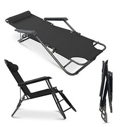 Apelila Set of 2 Folding Zero Gravity Lounge Beach Patio Chairs Outdoor Sunlounger Camping Hikin ...