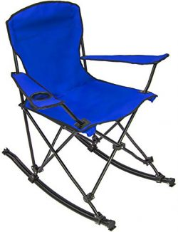 Sorbus Quad Rocking Chair with Cup Holder Cooler, Foldable Frame, and Portable Carry Bag, Reclin ...