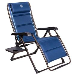 Timber Ridge Oversized XL Zero Gravity Adjustable Recliner Patio Lounge Chair with Side Table Su ...
