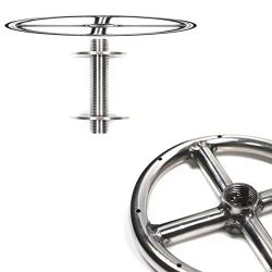 FR6K: 6″ Single Fire Ring w 1/2″ Female Hub, Plug and Mounting Kit 316 Stainless (no ...