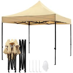 TopCamp 10x10ft Pop up Canopy Tent, Shade for Beach Heavy Duty Waterproof Outdoor Commercial Ten ...