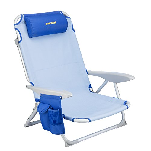 Wejoy 4 Position Beach Chair Oversize Folding Beach