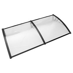 Overhead Window Door Awning Canopy Decorator Patio Cover, Clear Polycarbonate Outdoor Cover UV R ...