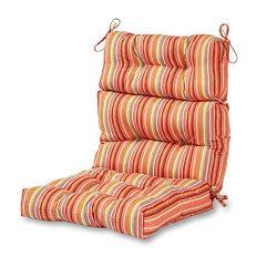 Greendale Home Fashions Outdoor High Back Chair Cushion, Watermelon
