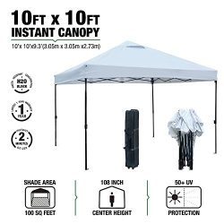 kdgarden 10 ft. x 10 ft. Easy Pop Up Canopy Tent Portable Folding Canopy Outdoor Instant Shelter ...
