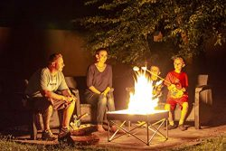 Pop-Up Fire Pit – Portable Outdoor Fire Pit for Patio, Backyard or Backwoods. Clean Burn T ...