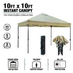 kdgarden 10′ x 10′ Outdoor Easy Pop Up Canopy Portable Event Party Shade Shelter Ten ...