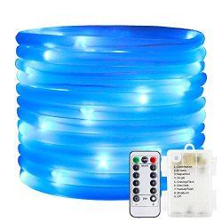 ErChen Remote&Timer Battery Powered Rope Lights,ER CHEN(TM) 16.5FT 50 LED Warterproof Indoor ...