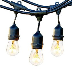 Brightech Ambience Pro Waterproof Outdoor String Lights Vintage Hanging Edison Bulbs: 48 Ft Comm ...