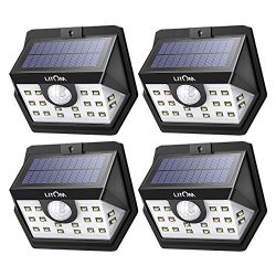 LITOM [Gen-3] Solar Lights Outdoor, 20 LED Wireless Wide Angle Motion Sensor Lights, Heavy Duty  ...