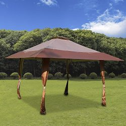 Cloud Mountain 13′ x 13′ Pop Up Canopy Outdoor Yard Patio Double Roof Easy Set Up Ca ...