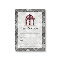 Gazebo Ballroom Building, Flat Party Invitation Card, 12 Cards at 5×7, with White Envelopes ...