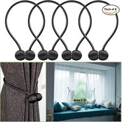 Iusun Curtain Buckle Tiebacks Clips Magnetic Tie Band Home Office Decorative Drapes Weave Holdba ...