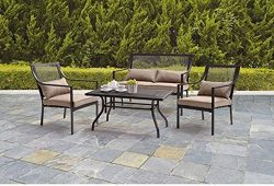 Mainstay's SFS47EH Bellingham 4-Piece Patio Conversation Set, Seats 4