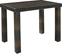 Crosley Furniture Palm Harbor Outdoor Wicker High Dining Table – Brown