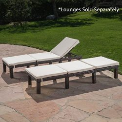 Great Deal Furniture Jessica Outdoor Cream Water Resistant Chaise Lounge Cushion (Set of 2)