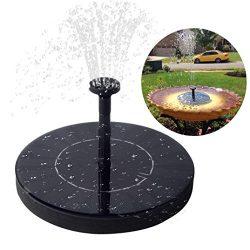 Immuson Solar Fountain Pump, Free Standing Bird Bath Fountain Water Pump, 1.4W Outdoor Floating  ...