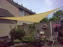Shade&Beyond Shade Sail Triangle 12'x12'x17′ UV Block Sand Sunshade Sails  ...