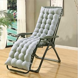 Enipate Lounge Cushions Solid Color Chaise Overstuffed for Garden Outdoor/Indoor Sun lounger Mat ...