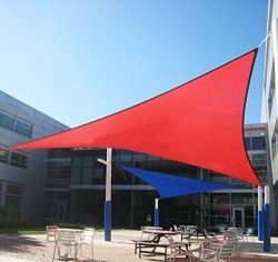 DLZY COOL Shade Sail porch shades knitting Sun Shade Sail garden sails 13′ 13′ 13&#8 ...