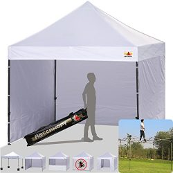 ABCCANOPY White 10 X 10 Ez Pop up Canopy Tent Commercial Instant Gazebos with 6 Removable Sides  ...