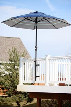 Patio Umbrella Holder | Outdoor Umbrella Base and Mount | Attaches to Railing Maximizing Patio S ...