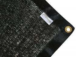 E.share Best Quality 40% UV Shade Cloth Black Premium Mesh Shadecloth Sunblock Shade Panel 12ft  ...