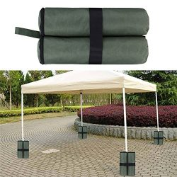 AOFJOSFHS Canopy Tent Weight Bags – 4 Pack Heavy Duty Durable Sand Bag Anchor Kit Gazebo S ...