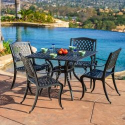 Marietta 5pc Outdoor Cast Aluminum Dining Set