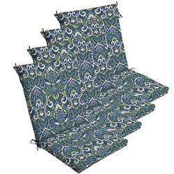 Comfort Classics Inc. Set of 4 Outdoor Dining Chair Cushions 20″x 44″x 3.5″T;  ...