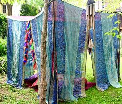 Sari BED CANOPY, TENT, Canopy Bed Curtains, Wedding Chuppah, Bohemian canopy Tent, Indoor/Outdoo ...