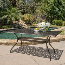 Monteria Bronze Cast Aluminum Rectangle Table