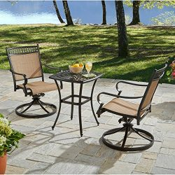 Better Homes and Gardens Warrens 3-Piece Aluminum Bistro Set