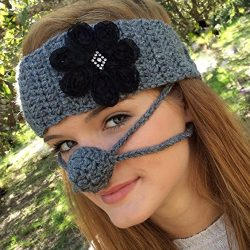 Ear Warmer & Nose Warmer Set, Dark Gray by Aunt Marty's Original Nose Warmers
