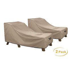 ULT Cover Waterproof Outdoor Chaise Patio Lounge Chair Cover 2 Pack, 84L x 32W x 32H inch