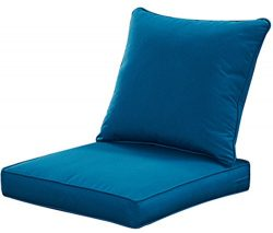 Qilloway Outdoor/Indoor Patio Furniture Deep Seat Olefin Fabric Cushions, All Weather High Back  ...