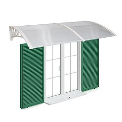 Peach Tree Overhead Door Window Outdoor Awning Door Canopy Patio Cover Modern Polycarbonate Rain ...