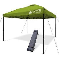 Leader Accessories 10'x10′ Instant Canopy Pop Up Canopy Straight Wall including Whee ...