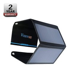 Foldable Solar Charger 28W for cell phones, iphone, iPad, iPods and Android 5V USB Charging devi ...