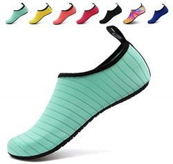 AoSiFu Woman and Man Athletic Aqua Water Shoes for Beach Pool Gym US 9.5-10 Men 42-43 Green